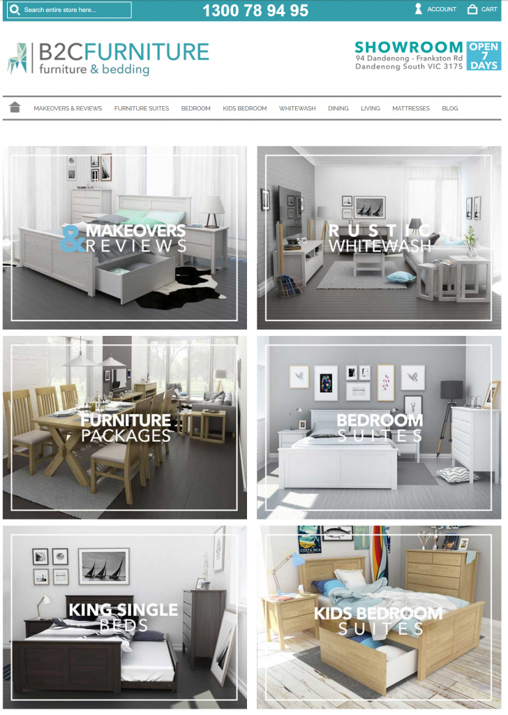 B2C Furniture – Ecommerce (Retail)